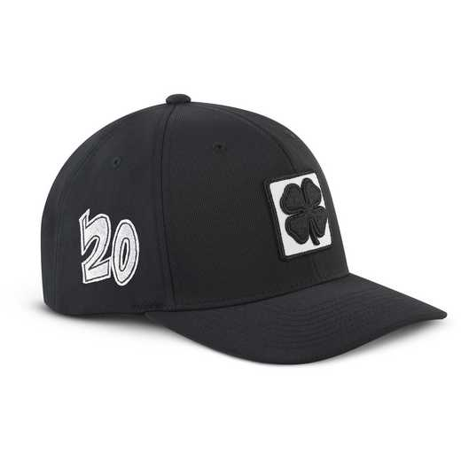 K021340: Hat-Black Clover 20 Lucky Square #1-Adjustable-Black